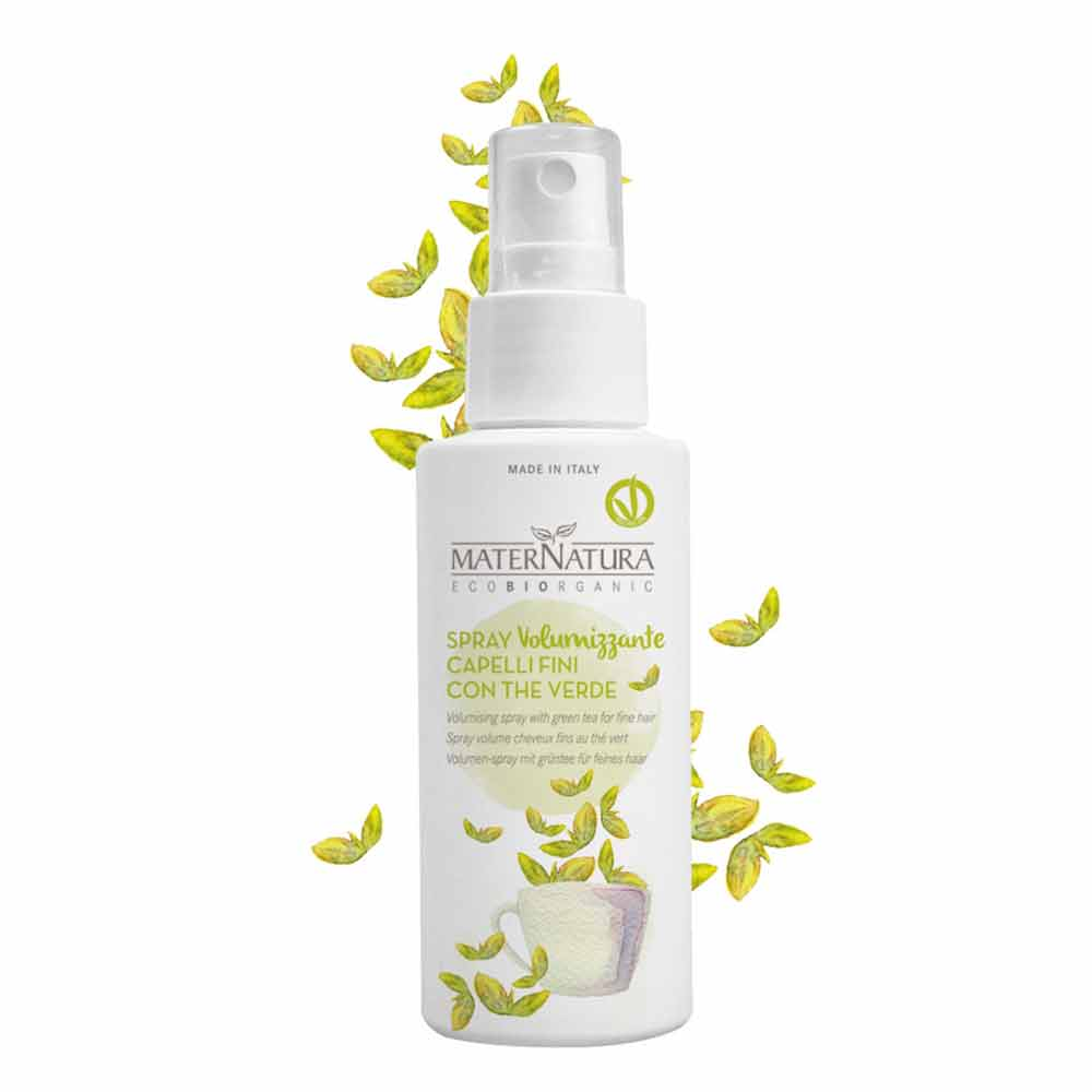 Spray volumizzante con the verde
