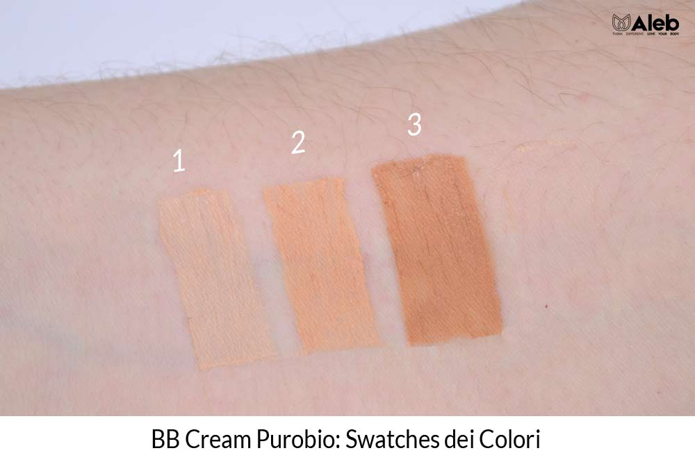 BB Cream Purobio Swatches Colori