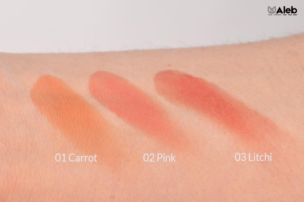 Lip to Cheek Purobio: Swatches dei colori