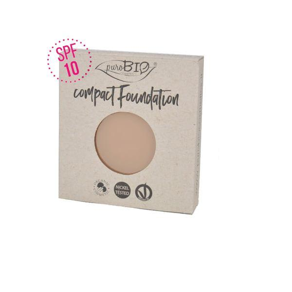 Compact Foundation Purobio Refill SPF10 - Colore 01