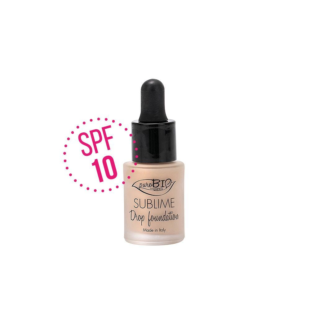 Nuovo Sublime Drop Foundation Purobio con SPF10 - Colore 01