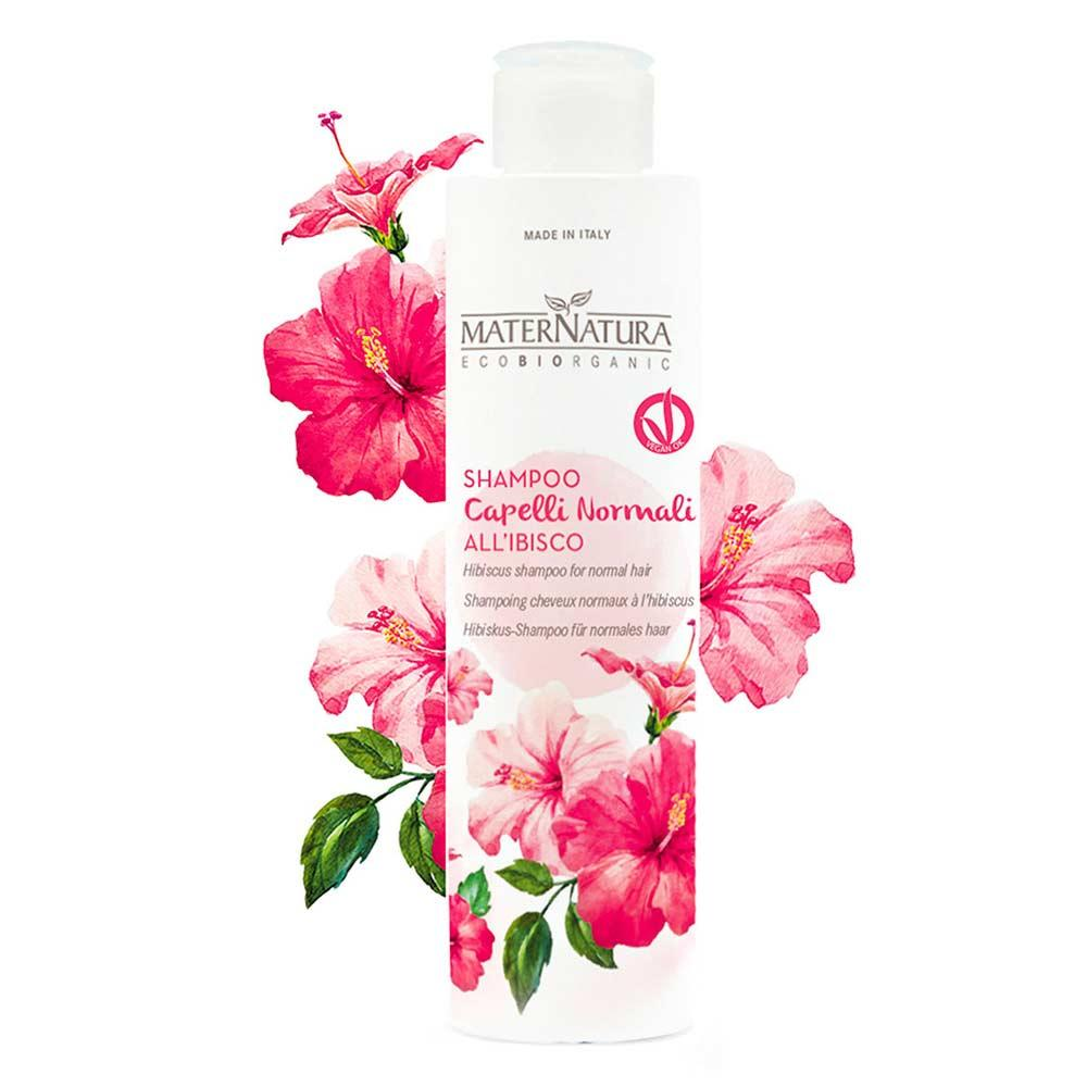 Shampoo capelli normali all ibisco maternatura